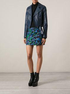 Kenzo Printed Fitted Denim Skirt - Eraldo - Farfetch.com