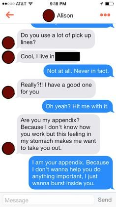 The best comebacks on Tinder to pick-up lines and rejections.
