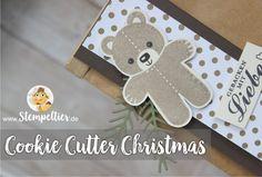 cookie cutter christmas ausgestochen weihnachtlich sneak preview Winterkatalog 2016 stampin up vom stempeltier teddybär