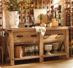 pottery barn belmont buffet...this site is filled with DIY knock off decor!