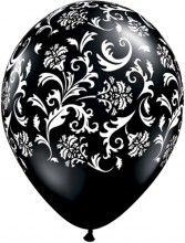 Black Damask Balloons for sure for my summer happy hour party #redbookparty