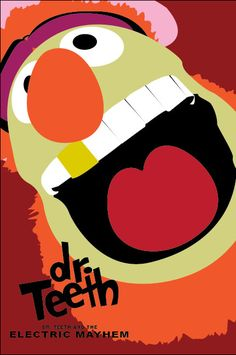 Dr. Teeth and the Electric Mayhem    illustrations by Nick Westcott :: via retroartprint