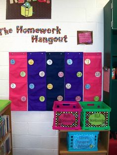 The Homework Hangout: A place for students to put their HW, easy for teacher to see who has turned it in. Interesting...
