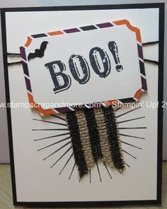 Alternate project for September 2014 My Paper Pumpkin kit by Stampin' Up!.