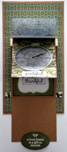 Video Tutorial on water fall card. Collette Mitrega.