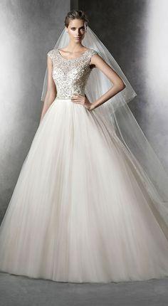 pronovias prismal gemstones princess sequins wedding dresses 2016