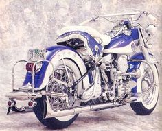 1957 Harley-Davidson FLH by carlene on Indulgy.com...mmmm fishtails...