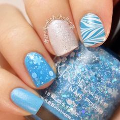 """lovelynaildesigns: """" I made a simple striping tape nail design and kept the colors somehow neutral with a little bit of shine. """""""
