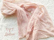 Baby Wrap Bio Gaze-Baumwolltuch transparent Puder