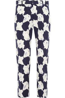 Jil Sander Nash mid-rise printed cotton pants   THE OUTNET #Work