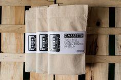 Cassette Tote Bag por OfficineBerlinesi en Etsy