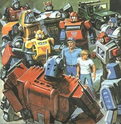 Vintage Transformers storybook art by Earl Norem. Transformers Characters, Transformers Optimus Prime, Gi Joe, Nemesis Prime, Transformers Generation 1, Black And White Comics, Transformers Collection, Saturday Morning Cartoons, Geek Culture