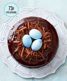 Super indulgent rich #chocolate #Easter #cake