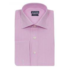 Chemise coupe classique à rayures rose #chemise