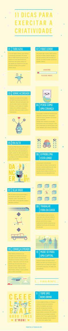 infografico 11 dicas de criatividade