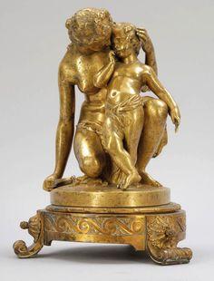 """James (Jean Jacques) Pradier 1790 Genf - 1852 Rueil - """"Vénus et l'amour"""" (Venus entwaffnet Amor)"""