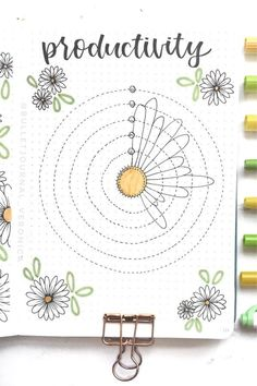 If you want to add a super cute floral theme to your bullet journal spreads this month, check out these daisy monthly covers, habit trackers, weekly spreads and more for new ideas / inspiration! Bullet Journal Paper, Bullet Journal Mood Tracker Ideas, Creating A Bullet Journal, Bullet Journal Lettering Ideas, Bullet Journal Notebook, Bullet Journal Aesthetic, Bullet Journal School, Bullet Journal Spread, Bullet Journal Ideas Pages