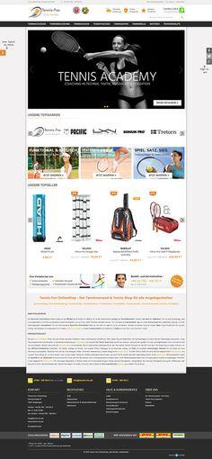E-Commerce Webdesign made by 4market | www.4market.de/ | Onlineshop für Tennisschläger, Tennisbekleidung, Tennisschuhe & Zubehör
