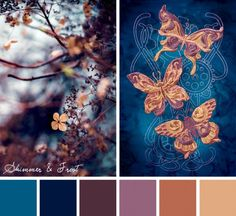 Find beauty in the cool elegance of the season with this Shimmer & Frost color inspiration.