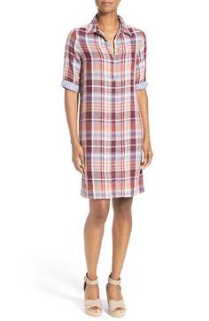 Caslon® Print Cotton Tunic Dress (Regular & Petite) available at #Nordstrom