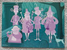 SHAG Postcard Disneyland Haunted Mansion 40th Spine Chilling Symphony Cemetery