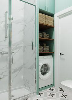 Laundry Bathroom Combo, Tiny House Bathroom, Laundry Room Design, Bathroom Layout, Modern Bathroom Design, Bathroom Interior Design, Small Bathroom, Bathroom Sink Bowls, Casa Milano