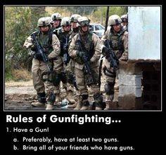 Rules of gunfighting