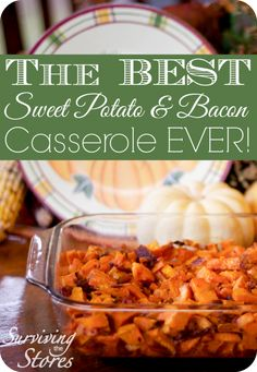 This is THE best sweet potato casserole out there!  It is super easy to make in a pinch too and only has a few ingredients!