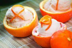 Orange Ice Cream Recipe-- great way to serve