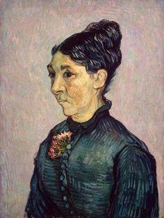 peira:  Vincent van Gogh: Portrait of Madame Trabuc (1889) via the State Hermitage Museum