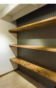 Easy DIY Wood Storage Shelves perfect for the basement laundry room Wood Storage, Shelves, Laundry Room Diy, Diy Storage, Wood Closet Shelves, Wood Storage Shelves, Wood Diy, Room Storage Diy, Basement Laundry