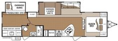 Travel Trailers and Fifth Wheels Floorplans Toy Haulers For Sale, Travel Trailer Floor Plans, Best Travel Trailers, Dutchmen Rv, Fifth Wheel Toy Haulers, Rv Manufacturers, Minimalist Living, Queen Beds, Skylight