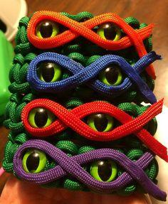 Teenage Mutant Ninja Turtles Paracord Bracelet by KnotKreations