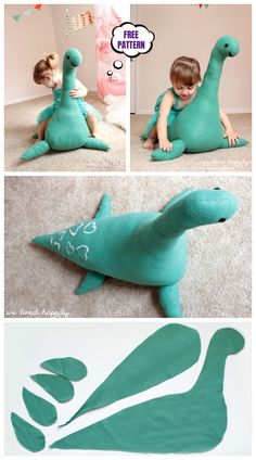 DIY Riesenmonster Spielzeug kostenlos Nähen Muster & Tutorial DIY giant monster toy free sewing pattern & tutorial The post DIY Giant Monster Toys Free Sewing Pattern & Tutorial & appeared first on Sewings. Sewing Toys, Baby Sewing, Sewing Crafts, Sewing Patterns Free, Free Sewing, Animal Sewing Patterns, Stuffed Animal Patterns, Sewing Hacks, Sewing Tutorials