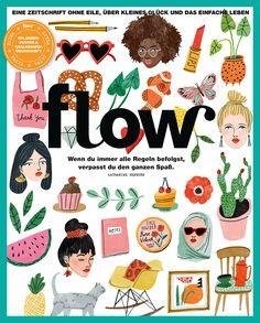 Flow Nr. 31 People Illustration, Love Illustration, Food Illustrations, Grafik Magazine, Magazine Art, Katharine Hepburn, Editorial Design, Magazin Covers, Reading Posters