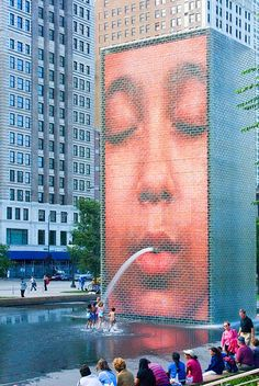 Crown Fountain. Jaume Plensa.Chicago, USA