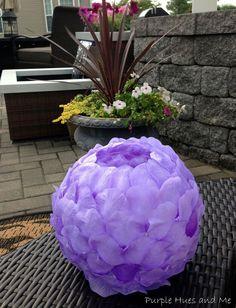 Hometalk; made with plastic spoons and faux rose petals | DIY Rose Petals Luminary