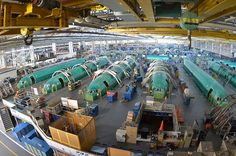 Boeing 737 production line.