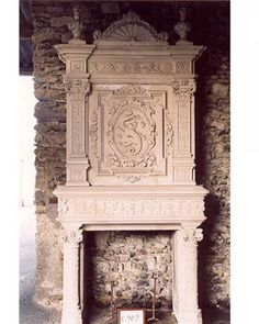 Antique fireplace from elledecor.com ... Uploaded with Pinterest Android app. Get it here: http://bit.ly/w38r4m