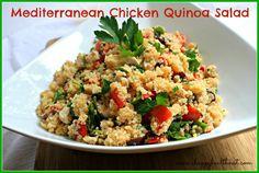 Mediterranean Chicken Quinoa Salad http://www.ahappyhealthnut.com