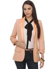 #luluslove #teal  Blush pink blazer