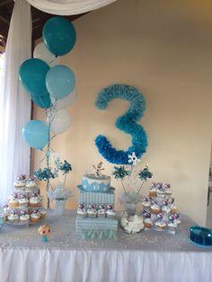 Frozen Themed Birthday Party, Elsa Birthday, 3rd Birthday, Birthday Party Themes, House Party, Biscuit, Birthdays, Baby, Decorations