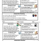 2 Different Versions of a Literacy Centers Completion Chart.   Each has one example, and one blank for you to adapt. I used to give these half sh...