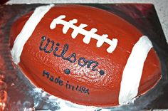 images of football cakes -