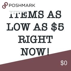 Prices marked down. Will go back up! Shop soon :))) Other