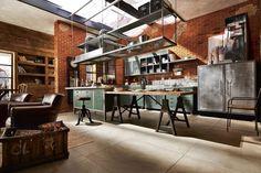 Rustic yet modern loft kitchen