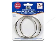 Yarn & Needlework: DMC Metal Craft Rings 2 1/2 in. 2 pc.