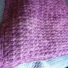 Nested shell baby blanket crotchets with