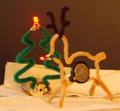 Picture of Pipe Cleaner LED Christmas Decorations