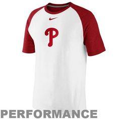 Nike Philadelphia Phillies MLB Dri-FIT Raglan Cotton Performance T-Shirt - White